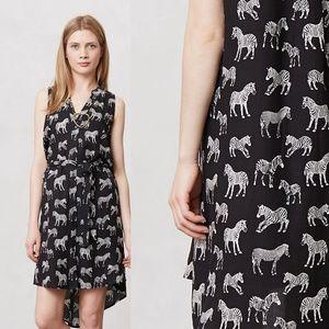 Anthropologie Afternoon Safari Shirt Dress Zebra